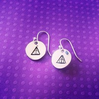 Deathly Hallows Earrings Harry Potter Inspired Handmade SHIPS FROM US from SHOW PONY