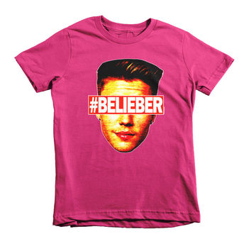 """#Belieber"" Unisex (Boys/Girls) Kids T-Shirt"