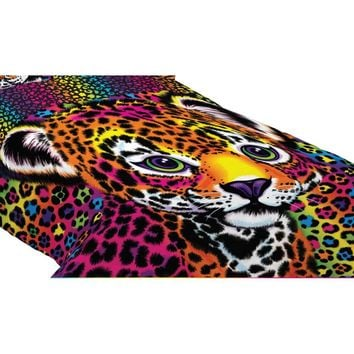 Lisa Frank Twin-Full Wild Side Leopard Print Bedding
