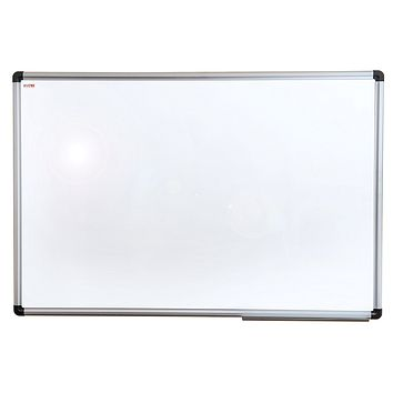 "Viztex Lacquered Steel Magnetic Dry Erase Board with an Aluminium frame (24""x18"")"