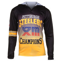 Pittsburgh Steelers Super Bowl XIII NFL Champions Poly Hoody Tee