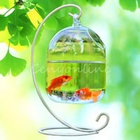 Hydroponic Wall Hanging Bubble Aquarium Fish Glass Vase Tank Plant  Home Decor Not Included Holder