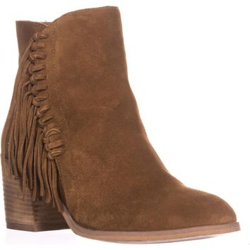 Kenneth Cole REACTION Rotini Side Fringe Ankle Boots, Pretzel, 6.5 US / 37 EU