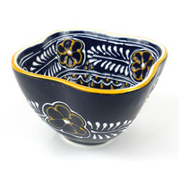 Handmade Mexican Ceramic Dip Chip Serving Dish Dip Soup Bowl