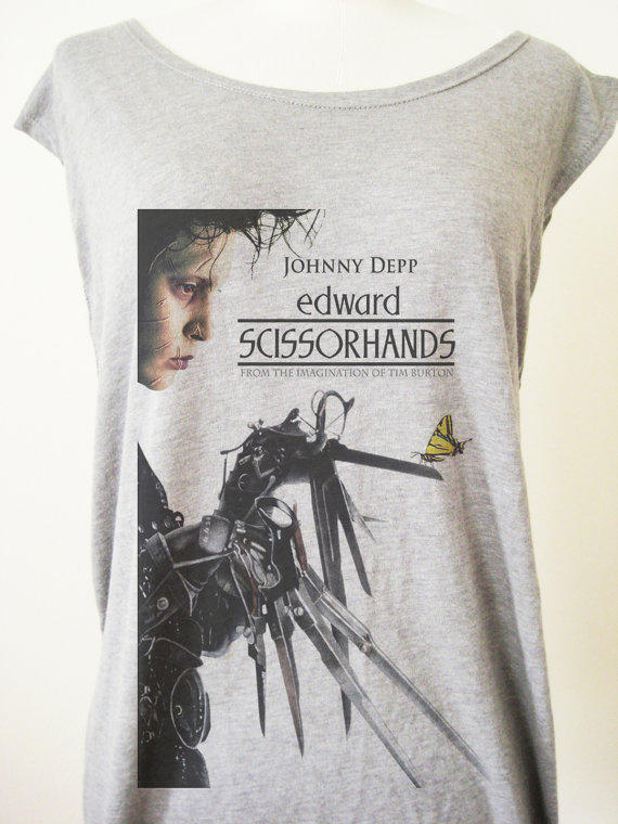90s Movie Poster Edward Scissorhands From Videofe On Etsy