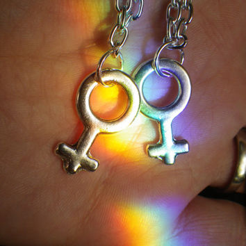 Male Female Symbol necklace, sold as single