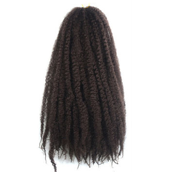 Caterpillar Wig Braid Fluffy Afro Hair Extension    33#