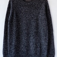 ma'ry'ya' anthracite crew neck sweater