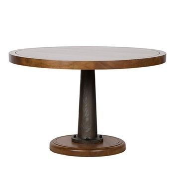 Cason Dining Table with Cast Pedestal, 48""