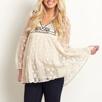 Cream-Tribal-Embroidered-Lace-Top