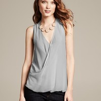Draped Wrap Top