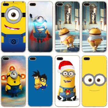 G453 Cute Minions Transparent Hard Thin Case Cover For Apple iPhone XR XS Max 4 4S 5 5S SE 5C 6 6S 7 8 X Plus
