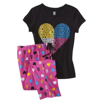One Direction™ Juniors Knit Pajama Set - Black / Pink
