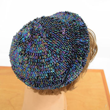 40s 50s Beaded Cocktail Hat