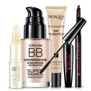 Beauty Professional Makeup Set BB Cream Concealer Bare Mascara Eyebrow Pencil Isolation Cream Lip Balm Korean Cosmetics Sets.