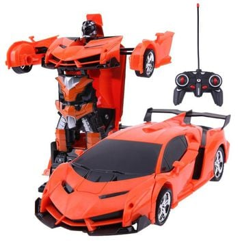 2 in 1 Transformation Wireless RC Remote Control Car Model Deformation Robot Kids Toy Gift for Children High Quality