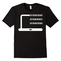 Dad In Binary Code T-Shirt-Funny Father Dad Gift Tee