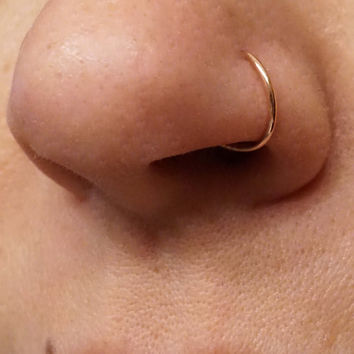 Rose Gold Nose Hoop Nose Ring
