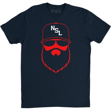 NSL Beard League Men's T-Shirt Navy/Red/White
