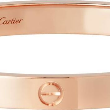 Cartier Love Bracelet 14K Rose Gold Round Cut 4 Diamonds Engagement All Sizes