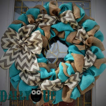 Spring Wreath - Easter Wreath - Summer Wreath -  Mother's Day Wreath - Burlap Wreath - Burlap Wreaths -