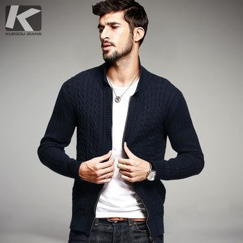 Men  Wool Sweater Male Knitted Cardigan Sweaters Spring Autumn  Sweater for Men