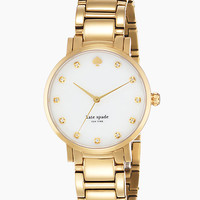Kate Spade Gramercy Crystal Watch Gold ONE