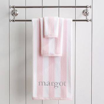 Rugby Stripe Bath Collection