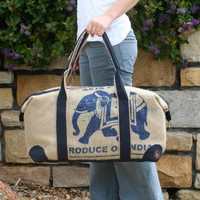 Elephant Coffee Travel Bag by thewren on Etsy