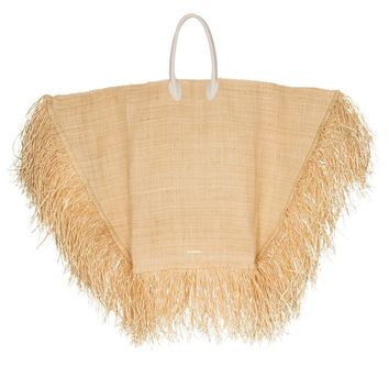 Frayed Straw Tote Bag by Jacquemus