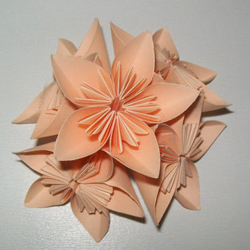 Paper origami flower, kusudama flower, kusudama origami flower, set of 100 origami flower, paper flower for wedding, wedding flower