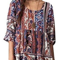 Umgee USA Women's Paisley Print Peasant Dress