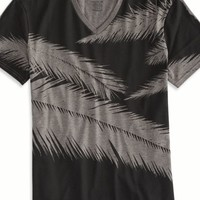 AEO Men's Feathers Vintage V-neck T-shirt (City Grey)
