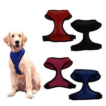 1PC Adjustable Nylon Mesh Vest Dog Harness for Medium Big Dogs Harnesses Pet Puppy Collar Chest Strap Leash Drop Shipping
