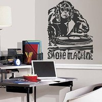 ik1312 Wall Decal Sticker DJ electronic music techno bedroom living room recording studio