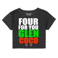 Four For You Glen Coco Crop Top Christmas-Heather Onyx T-Shirt
