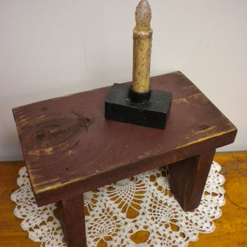 Small Bench Made To Order, Mini Bench Risers, Primitive Country Benches, Wood Stacking Benches