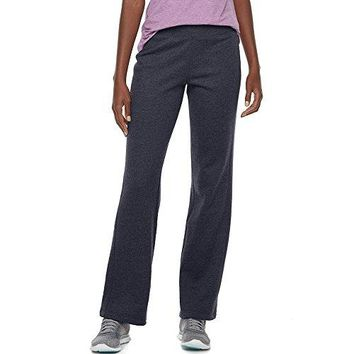 Tek Gear Womens Mid Rise Fleece Lined Straight Leg Pants