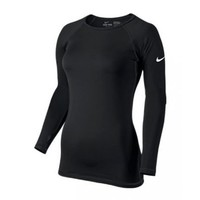 Nike Lady Pro Combat Hyperwarm II Compression Top - Large - Black