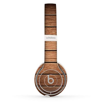 The Bolted Wood Planks Skin Set for the Beats by Dre Solo 2 Wireless Headphones