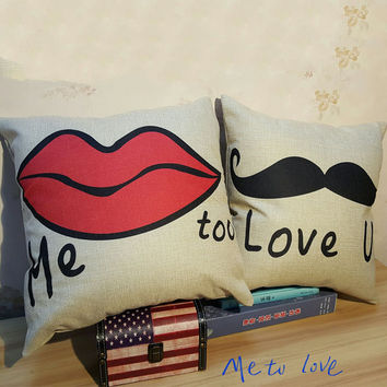 Couple Thicken Cotton Linen Cushion Sofa Cars Cushion Cover [6283494342]