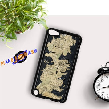 Westeros Map iPod Touch 6 Case Planetscase.com