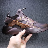 Best Online Sale LV x Supreme x Nike Air Huarache 4 Men Women Hurache Mesh Sport Running Shoes  Casual Shoes Sneakers 819685-108