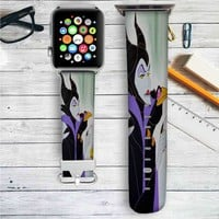 Maleficent Disney Villains Custom Apple Watch Band Leather Strap Wrist Band Replacement 38mm 42mm