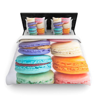 "Libertad Leal ""I Want Macaroons"" Woven Duvet Cover"