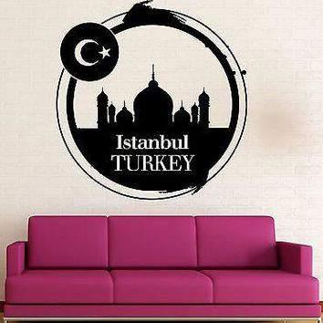 Wall Sticker Vinyl Decal Istanbul Turkey Travel Western Asia Unique Gift (ig2105)