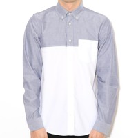 Carhartt L/S Anderson Shirt Deep Night/White | Free UK Shipping and Returns