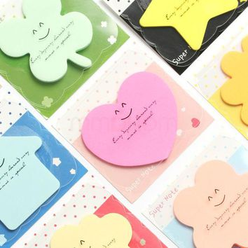 DCCKL72 Cute Korean Kawaii Star Apple Post It Planner Stickers Memo Pad Sticky Notes Pads Stationery School Office Supplies Accessories