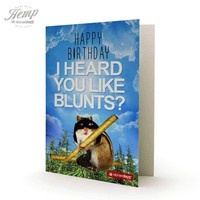 I HEARD YOU LIKE BLUNTS HEMP CARD