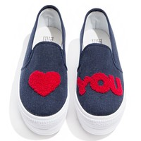 Love You Denim Sneakers